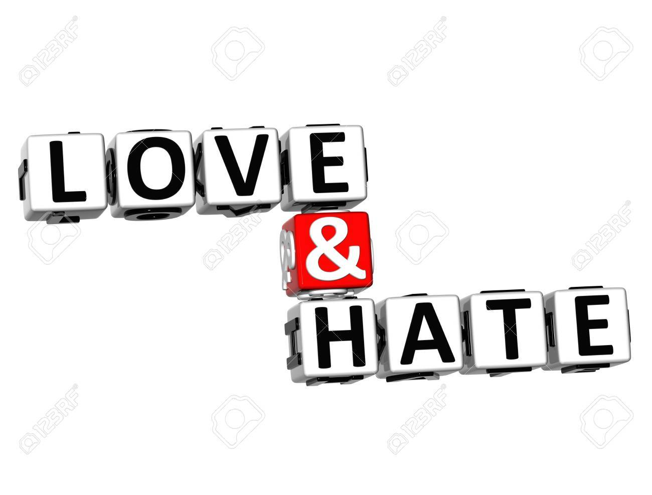 D Word Love And On White Background Stock Photo