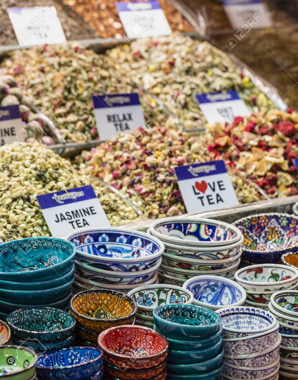 Salon De Thé Dans Le Grand Bazar, Istanbul, Turquie. Banque Du0027images