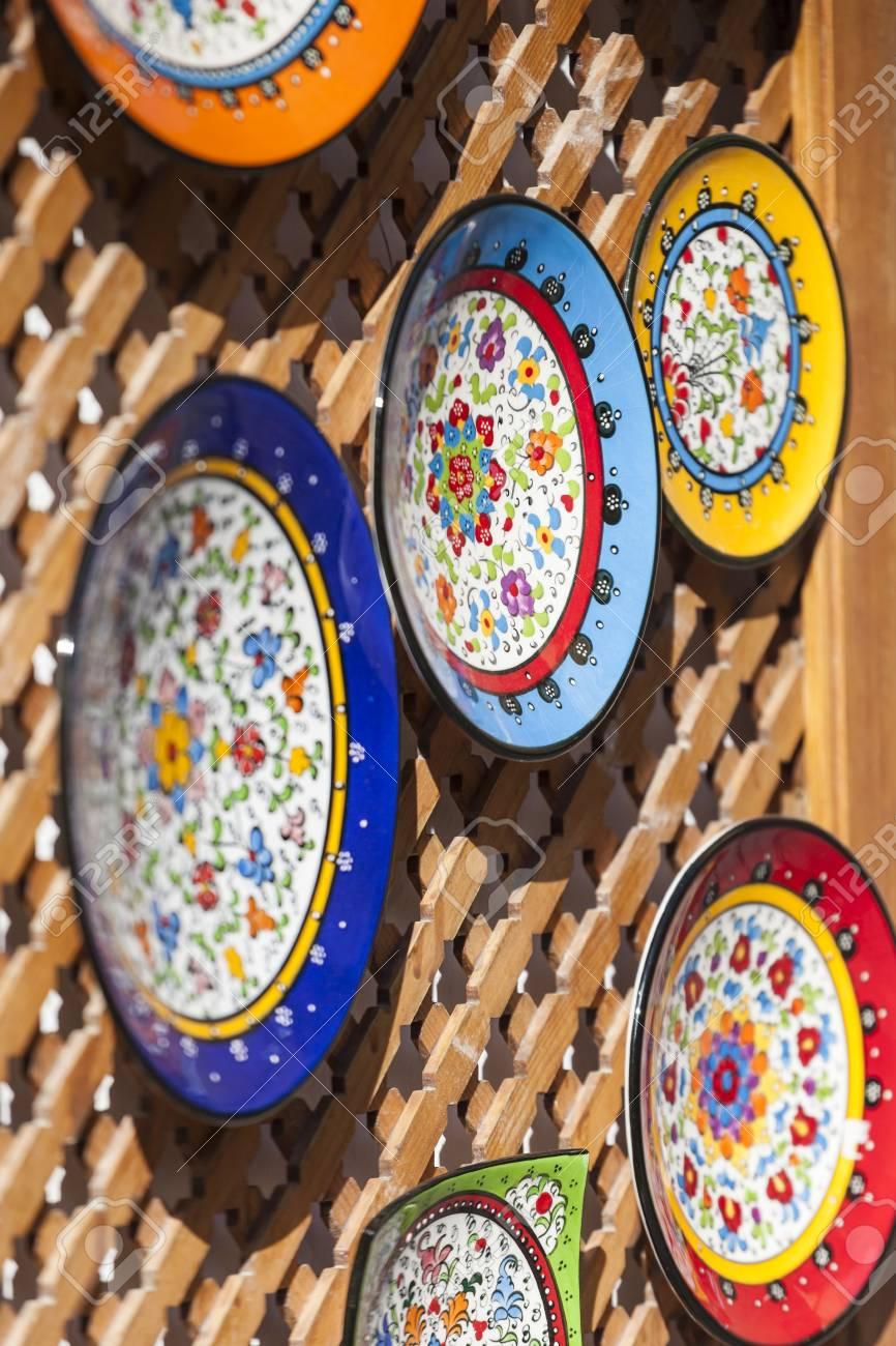 CORDOBA - SPAIN - JUNE 10 2016 Colorful ceramic spanish plates. Stock Photo & CORDOBA - SPAIN - JUNE 10 2016 :Colorful Ceramic Spanish Plates ...