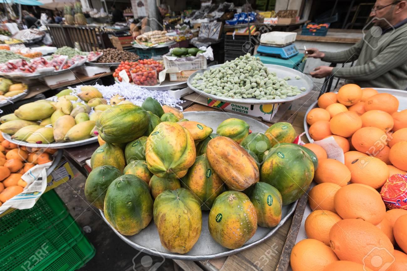 Fruit market in Amman, Jordan souq