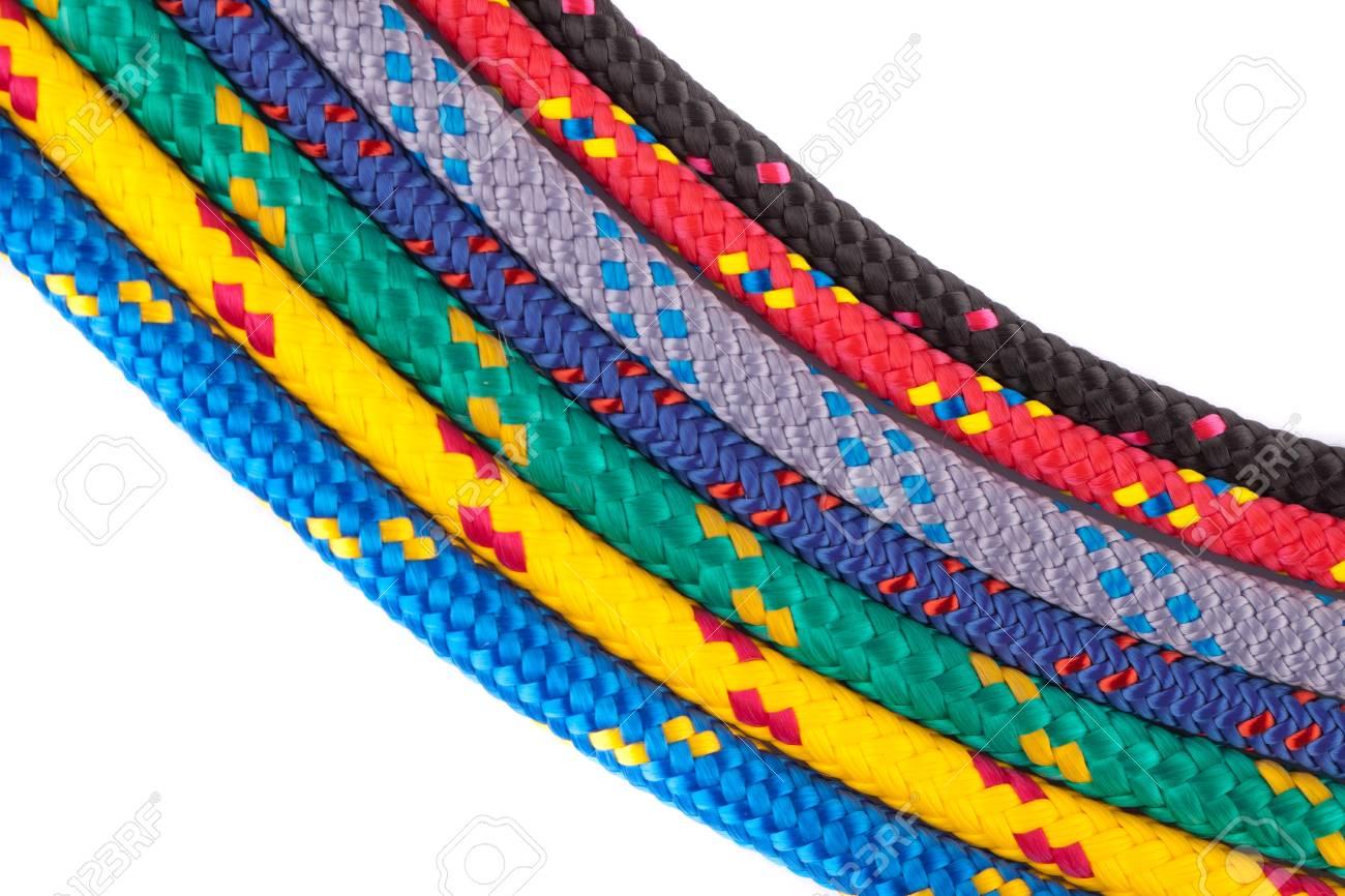 colorful rainbow ropes Stock Photo - 13786970