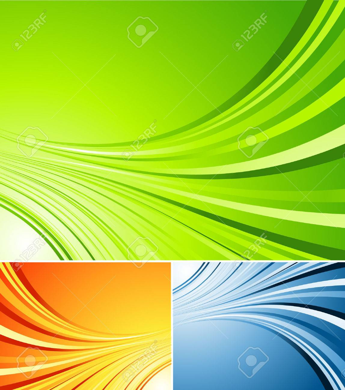three colors variations of vector striped background Stock Vector - 4177980