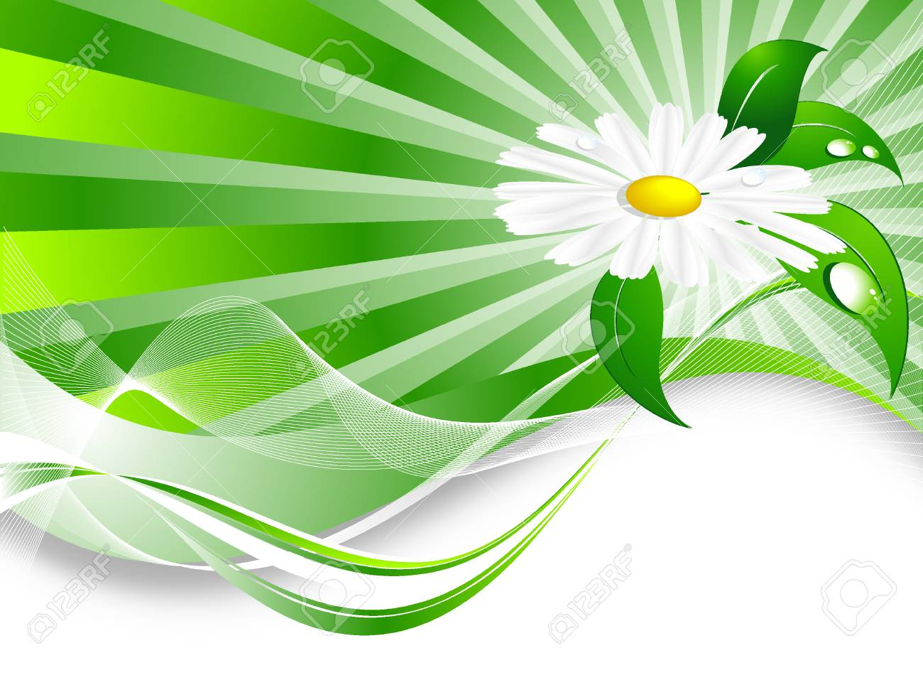abstract summer background with  plant and copy space Stock Vector - 7242461