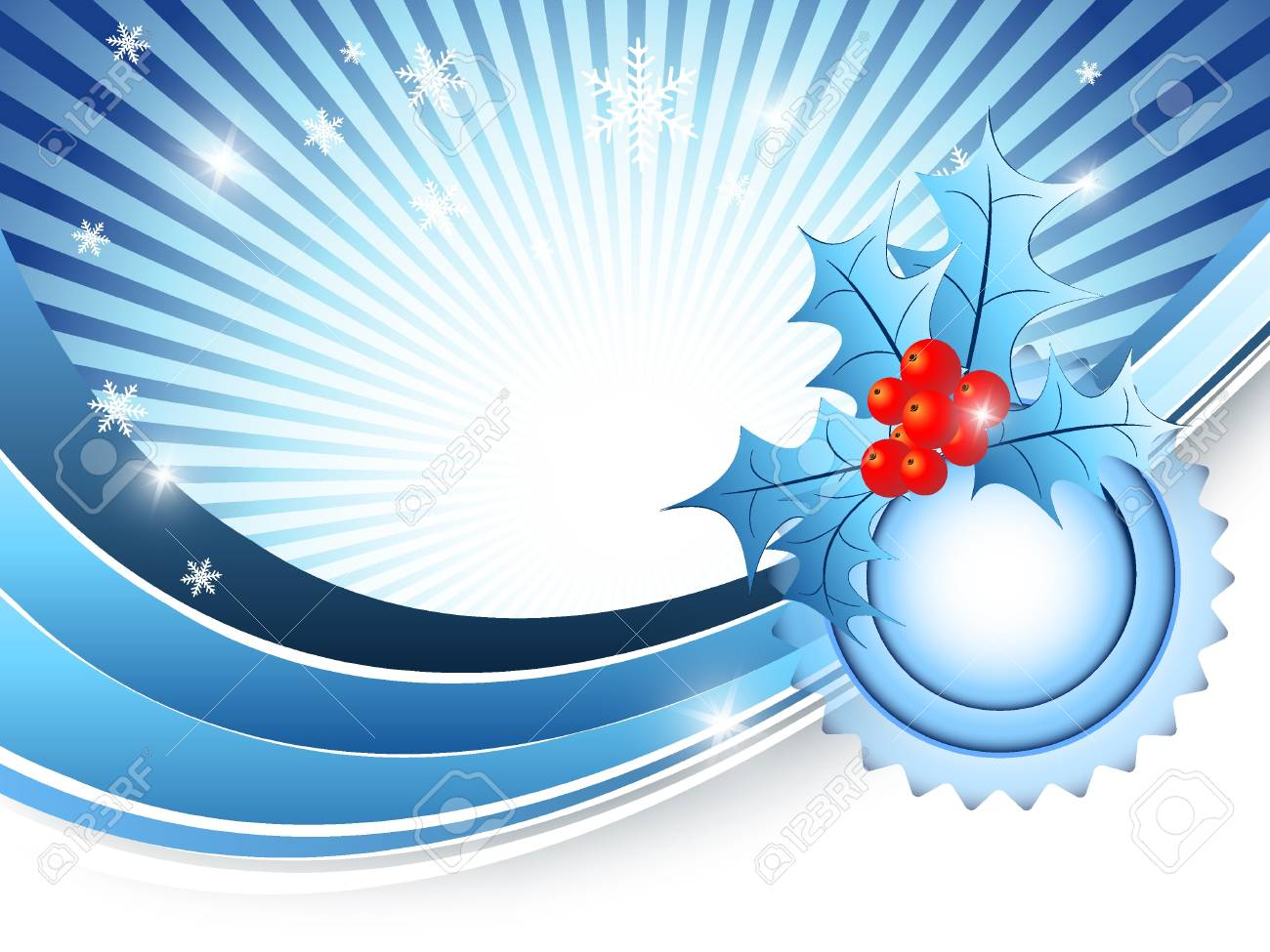 elegant background with snowflakes and decoration. Eps10 Stock Vector - 10352579