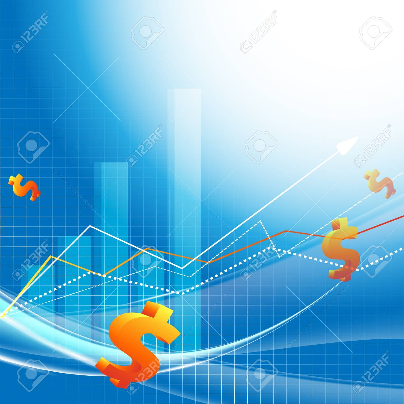 abstrac vector growth statistic financial frame. Eps10 Stock Vector - 15190792