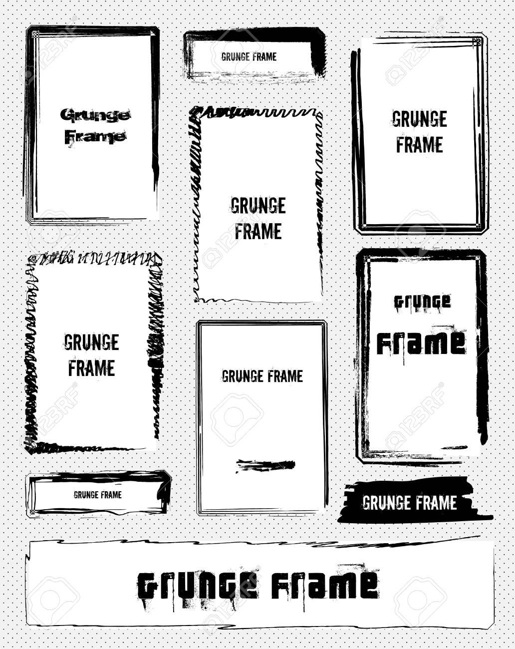Illustration of set grunge frames Stock Vector - 12488873