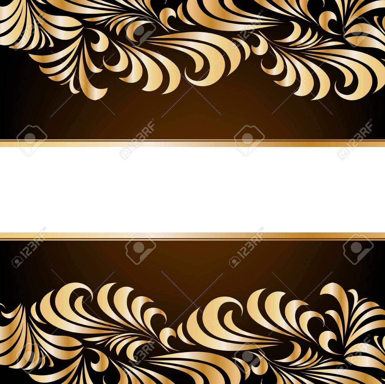 Gold floral background Stock Vector - 12718521