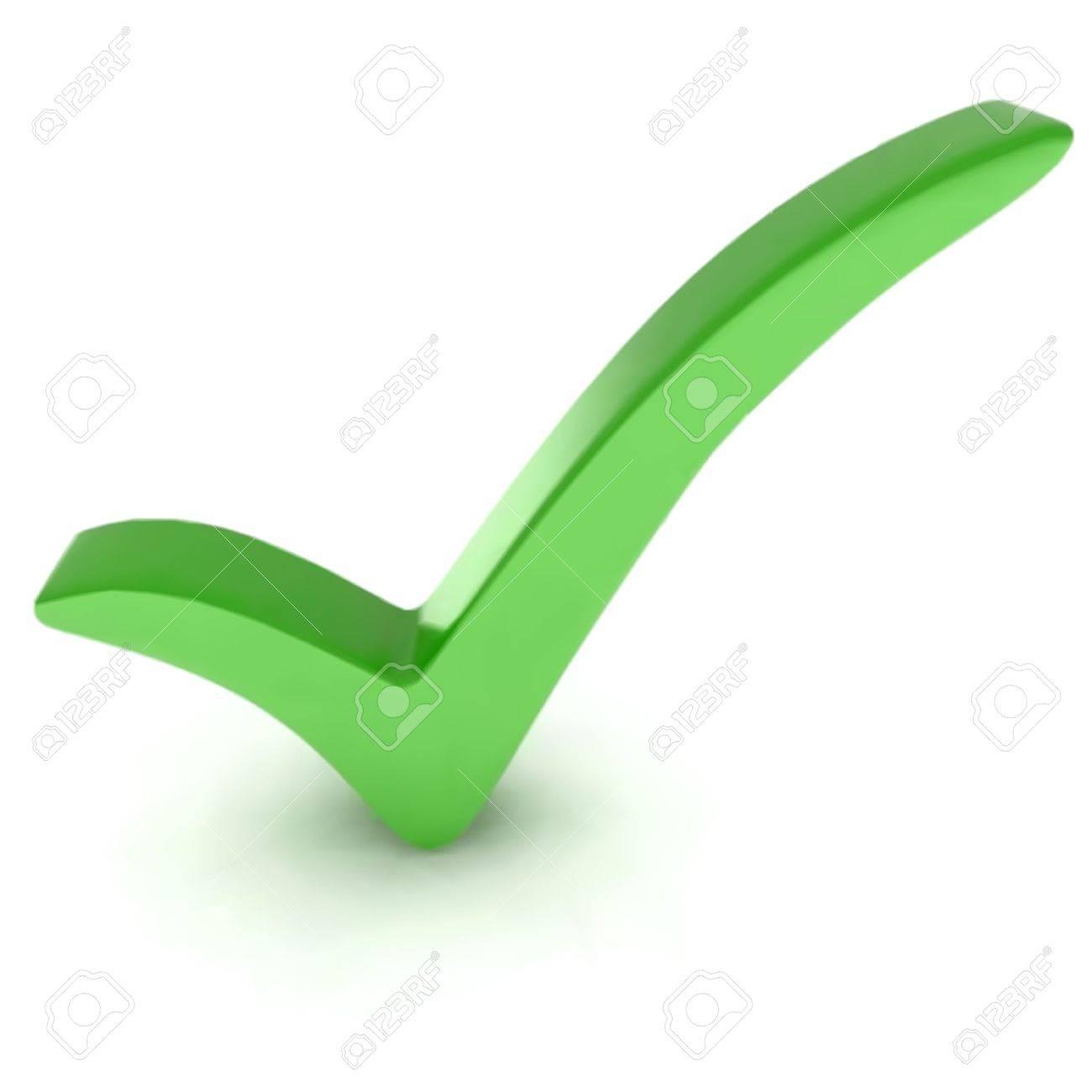 Green check mark Stock Vector - 13004432