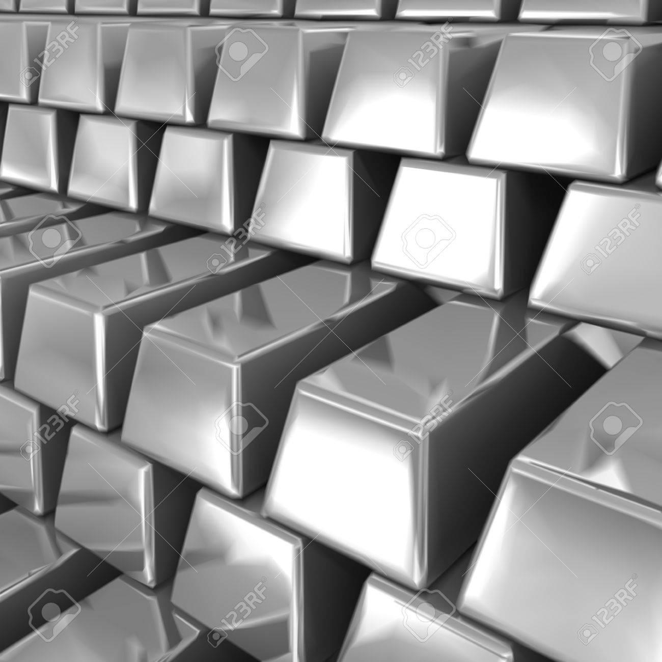 Silver bars Stock Vector - 13004440