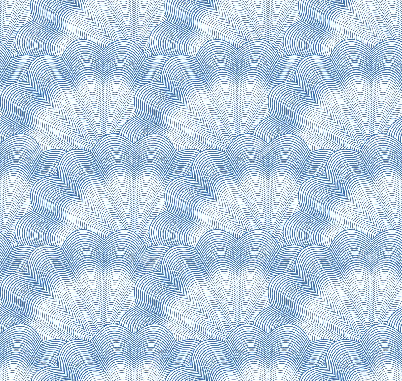 Seamless monochrome blue pattern Stock Vector - 13655609