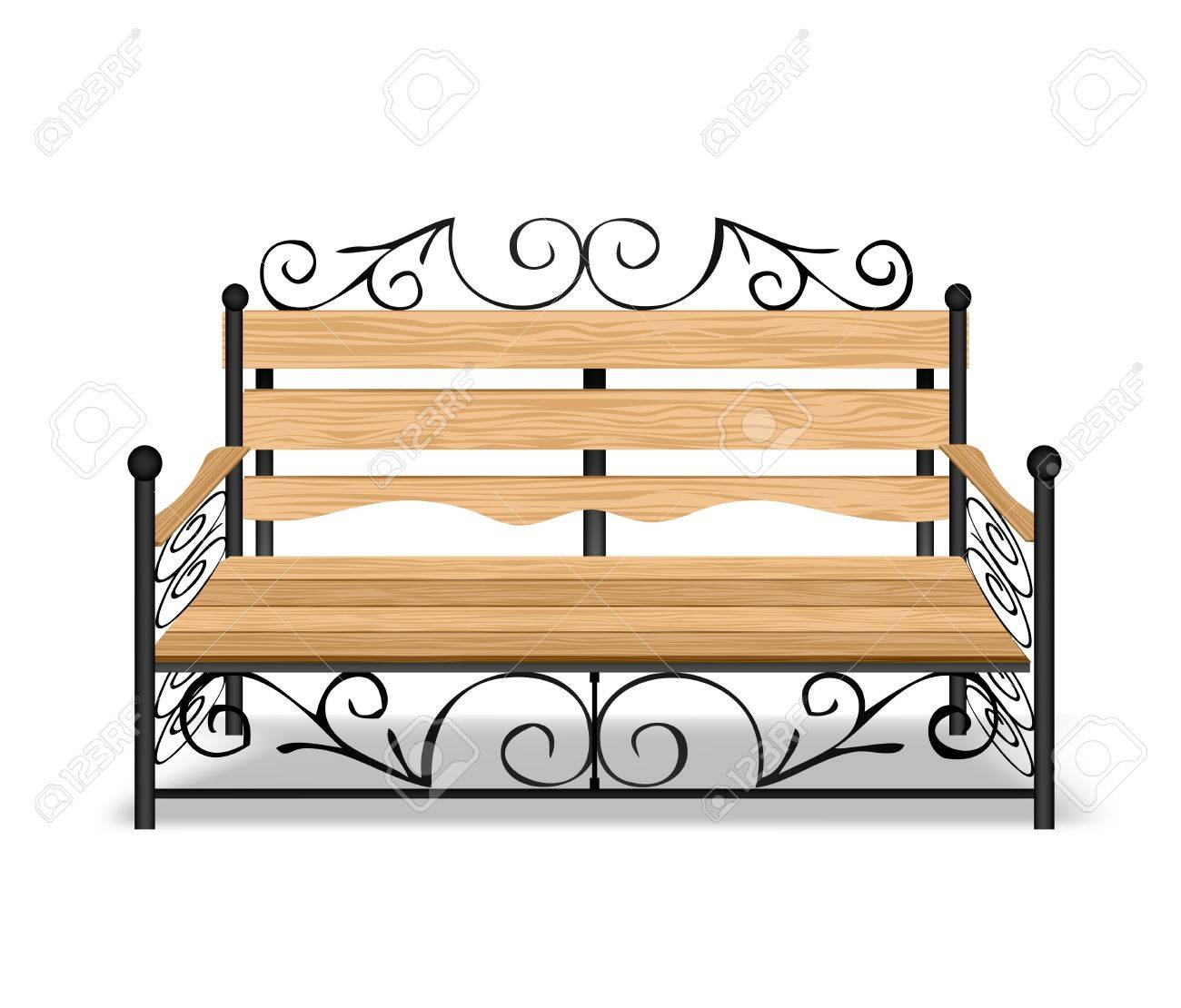 Classical park bench Stock Vector - 14437971