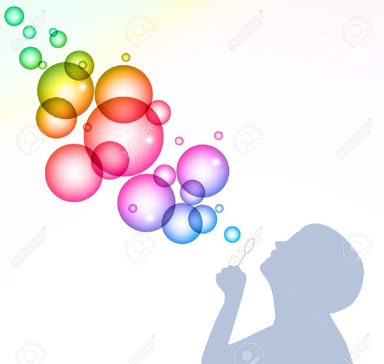 Soap bubble background download free vector art stock graphics - Child Blowing Bubbles Background Stock Vector 14791330