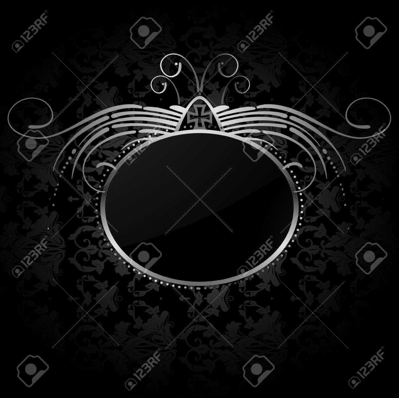 Royal background with silver frame Stock Vector - 14791327