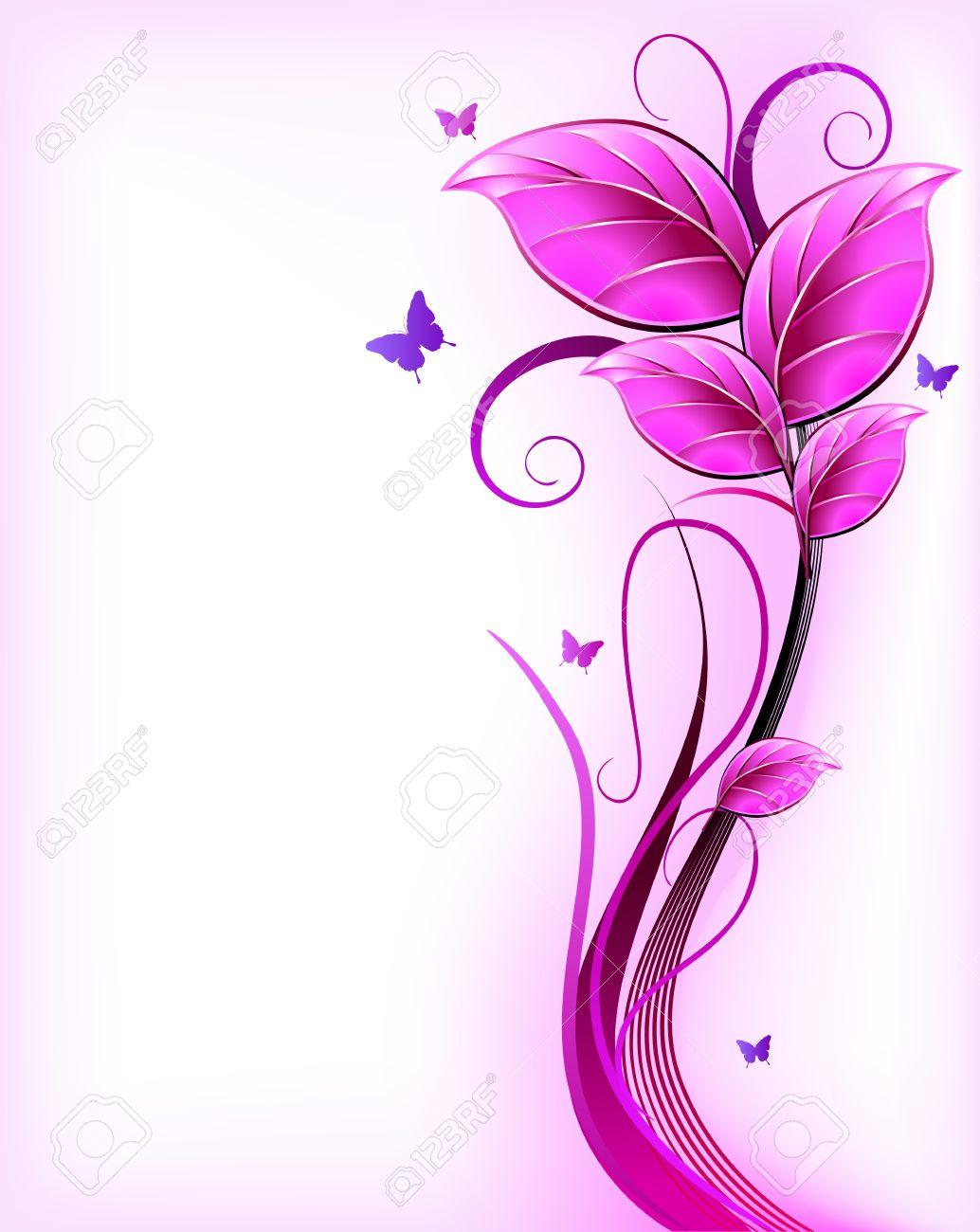 <<<Poemas de colores...>>> 15056822-Vector-floral-de-fondo-de-color-rosa-Foto-de-archivo