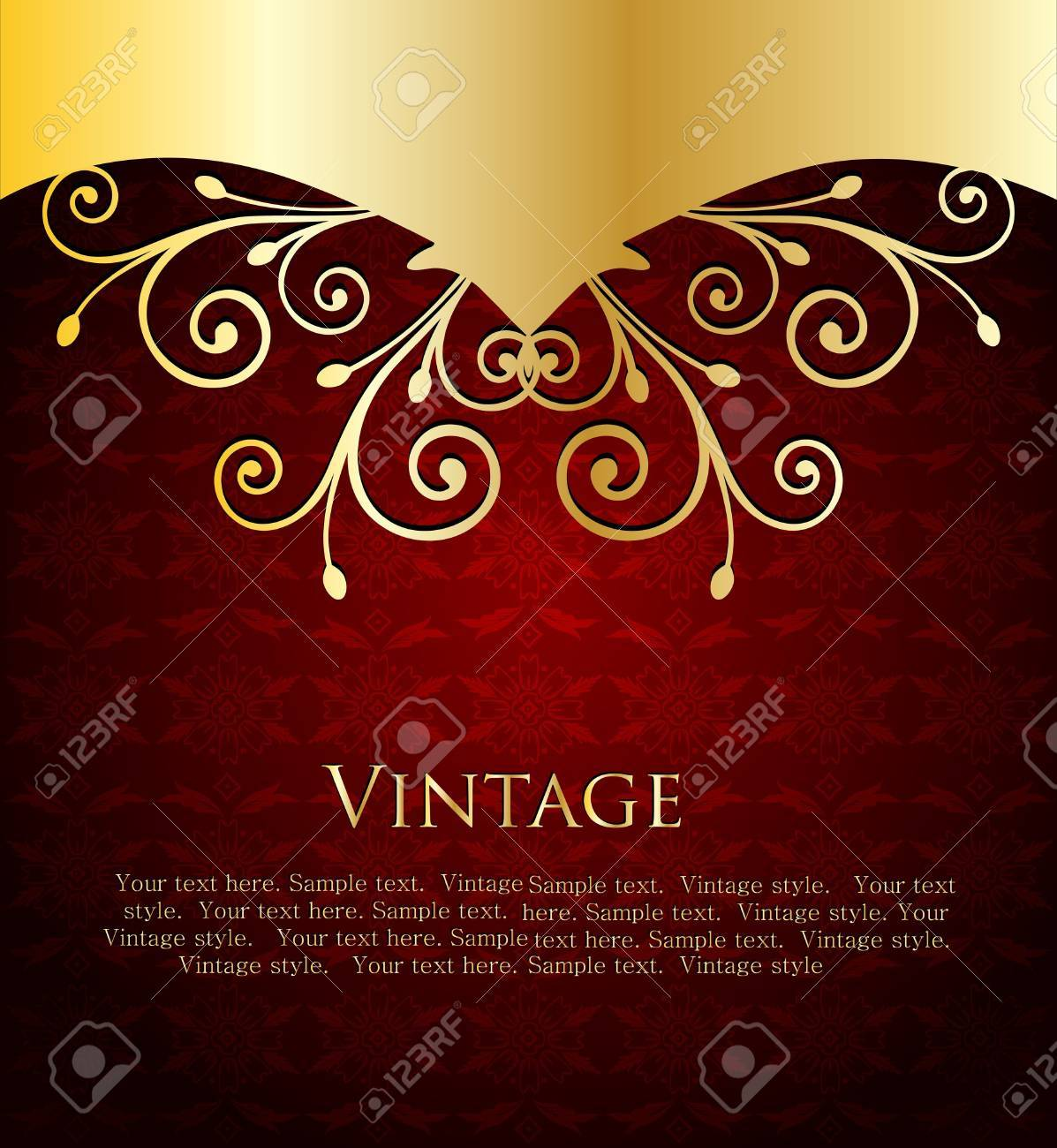 Red Label Template Stock Vector - 15316089