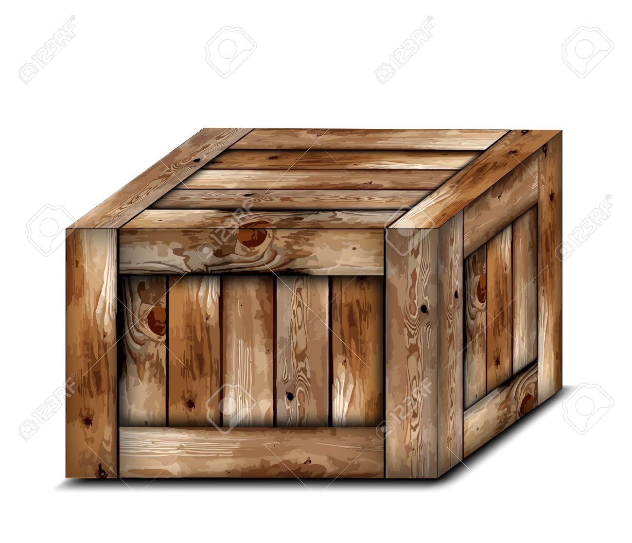 wooden box clipart. fragile wooden box stock vector 15650821 clipart d