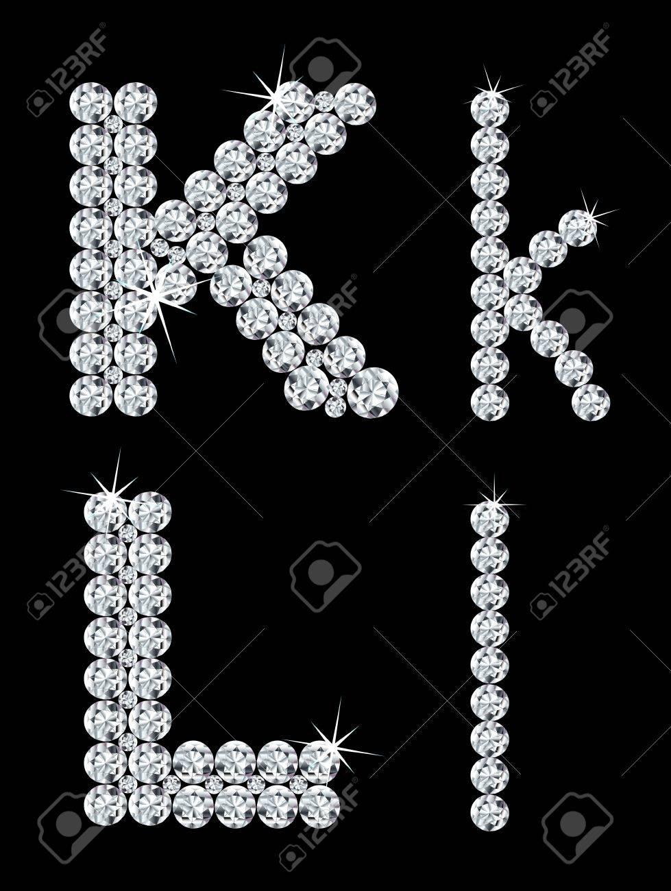 Set of diamond alphabetic letters Stock Vector - 16028900