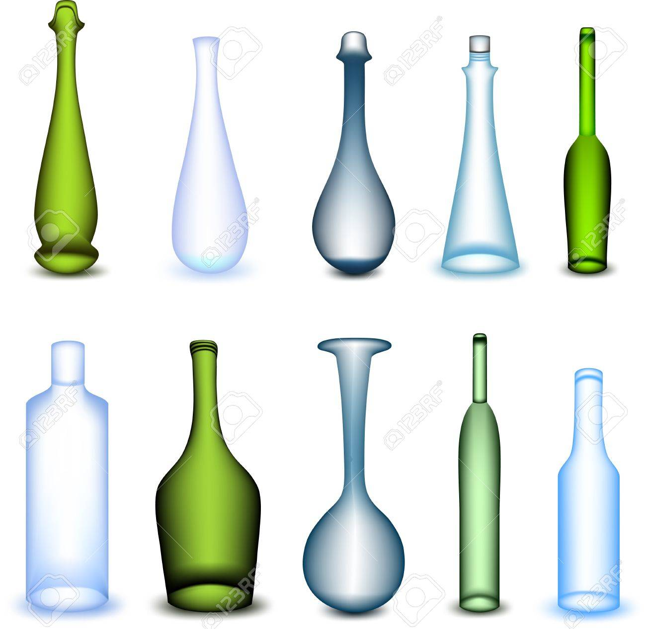 Set colorful bottle Stock Vector - 16877649