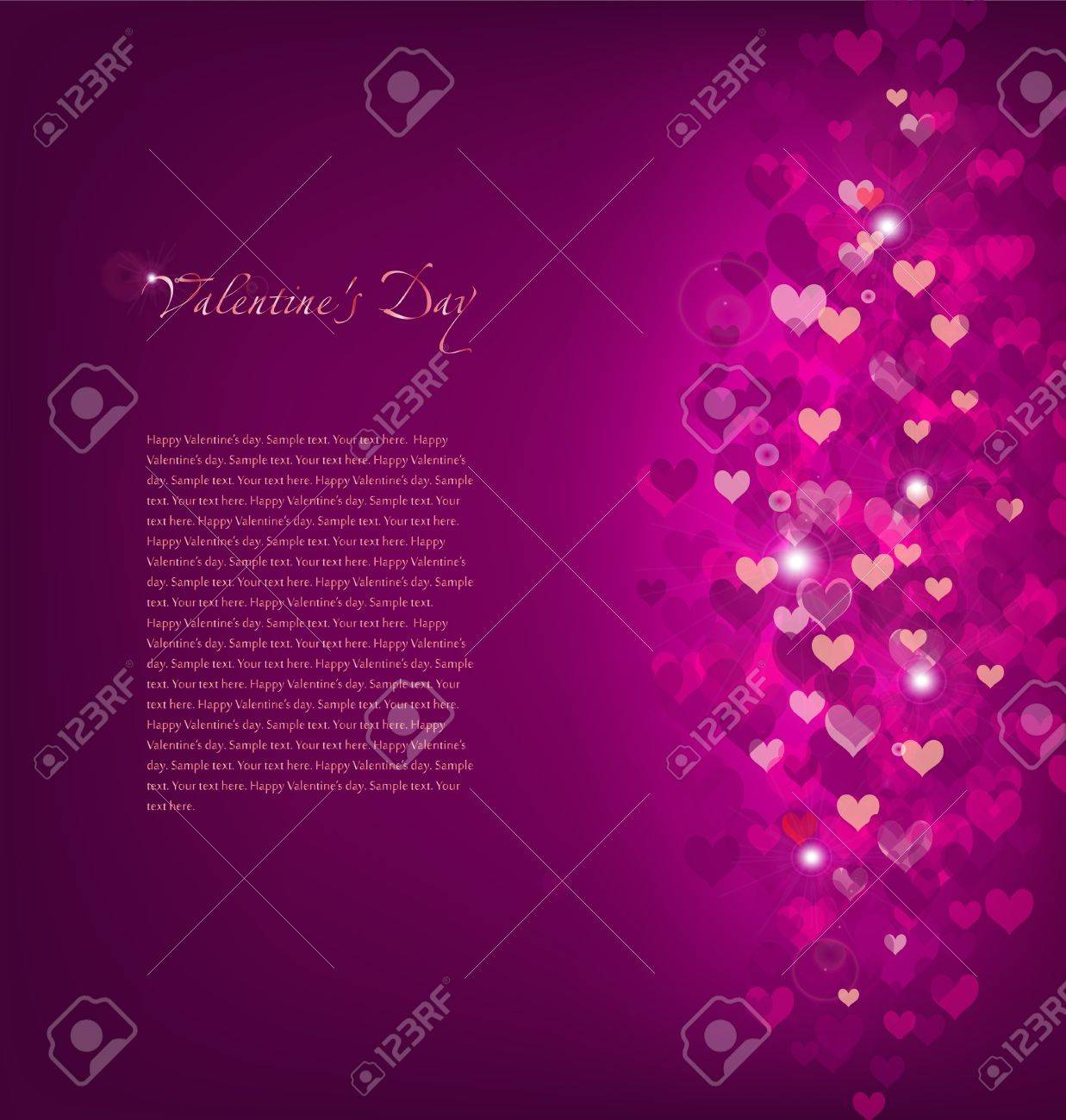 Pink Background Love Stock Vector - 17158402