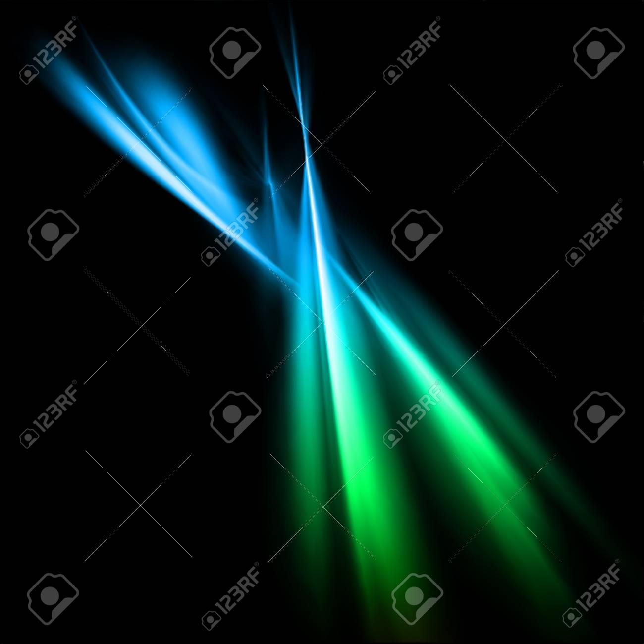 Magic neon light blue lines  Vector Stock Photo - 21261628