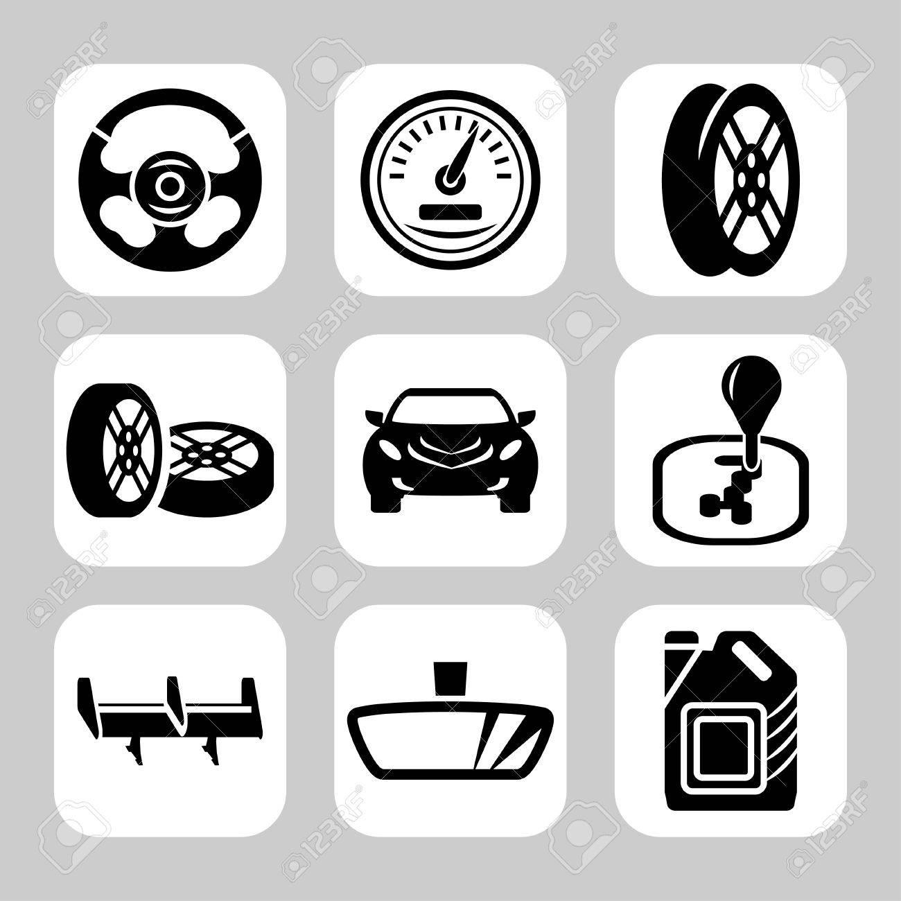 自動車部品ベクトル アイコンを設定 ロイヤリティフリークリップアート