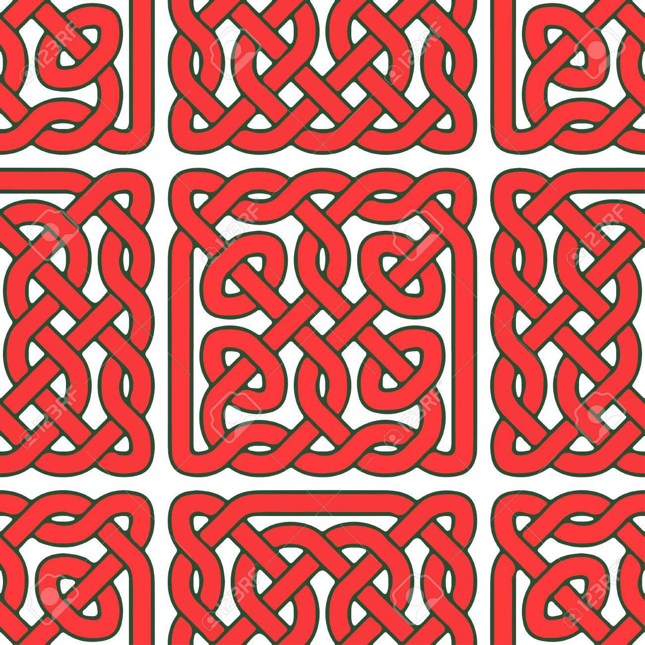 Nahtlose Keltische Oder Skandinavischen Muster, Illustration Für  Verzierten, Textil , Tapeten Oder Verpackung