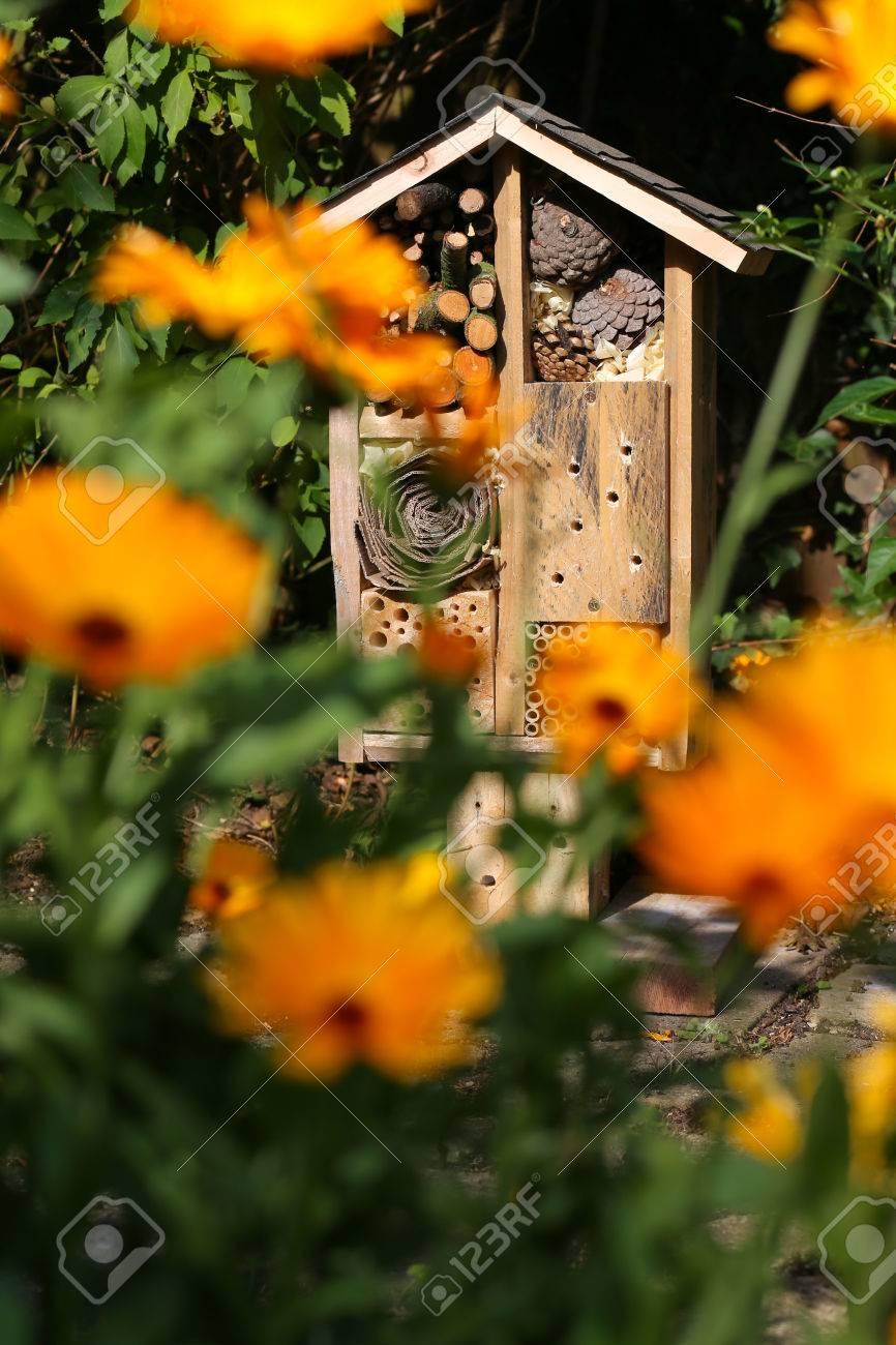 Holzinsektenhauses Dekorative Bug Hotel Marienkafer Und Biene Heim