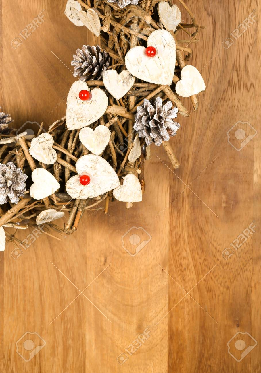 Christmas Handmade Vintage Wreath Decoration Shabby Chic White Stock Photo Picture And Royalty Free Image Image 47392714