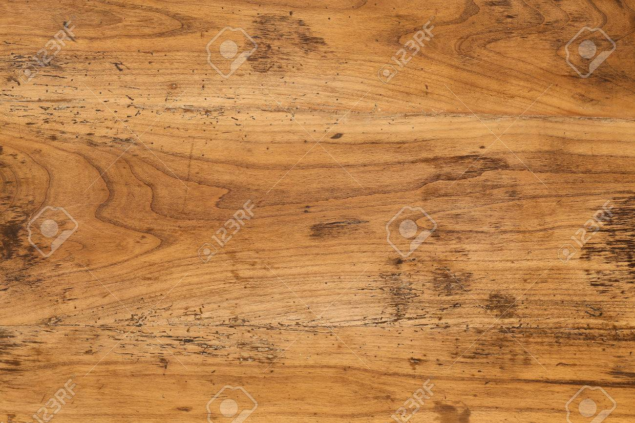 Old Antique Mahogany Wooden Table Top Background Full Of Wood Worm Holes  Stock Photo   65287275