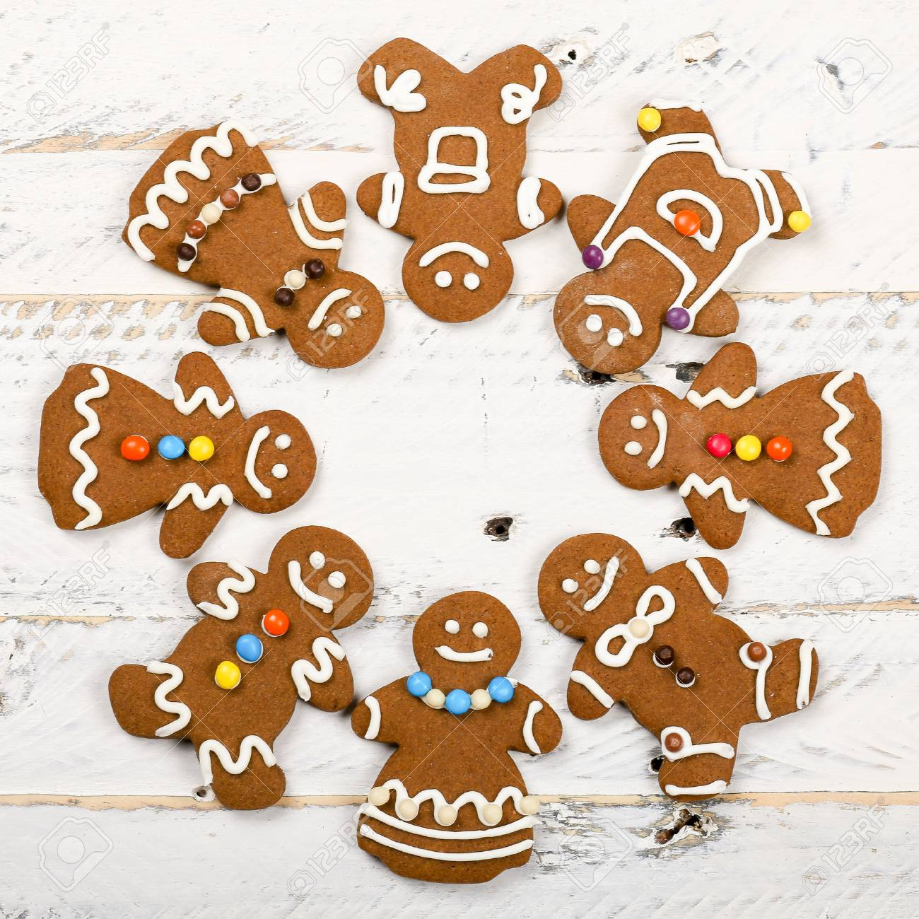 Christmas Homemade Gingerbread Man Family Cookies Couples On