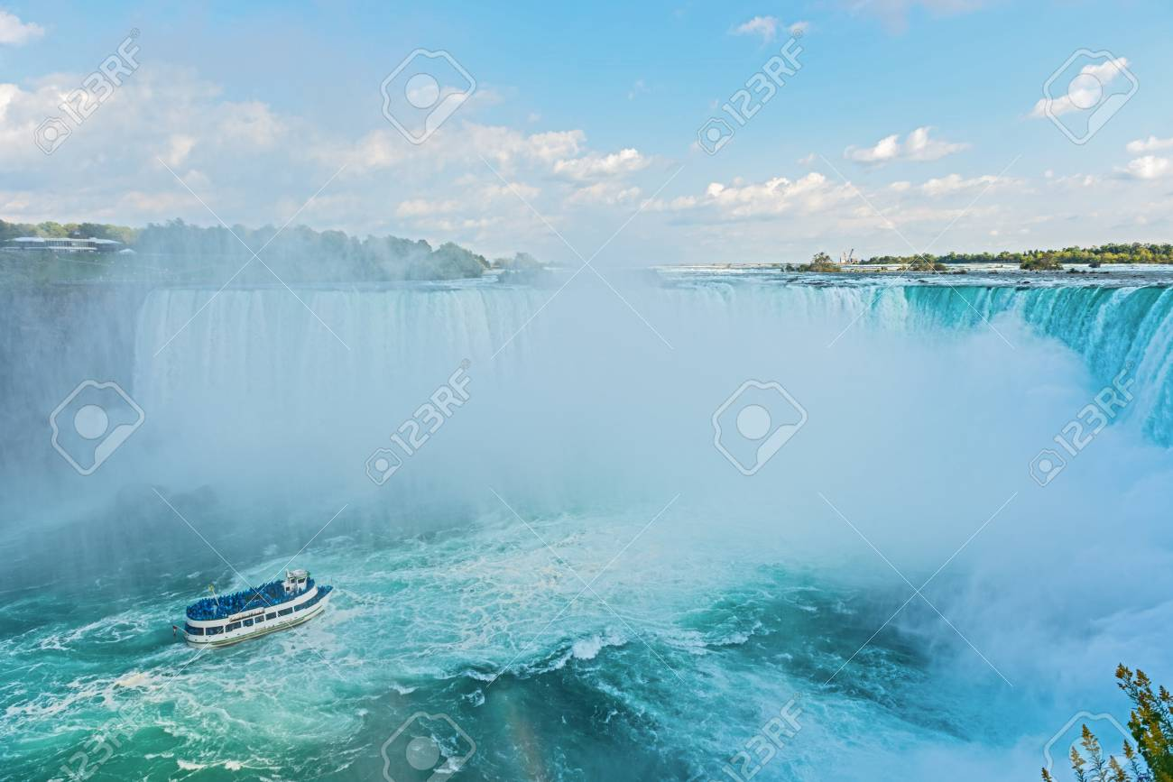 Niagara Falls as viewed from Canadian site Stock Photo - 15888488