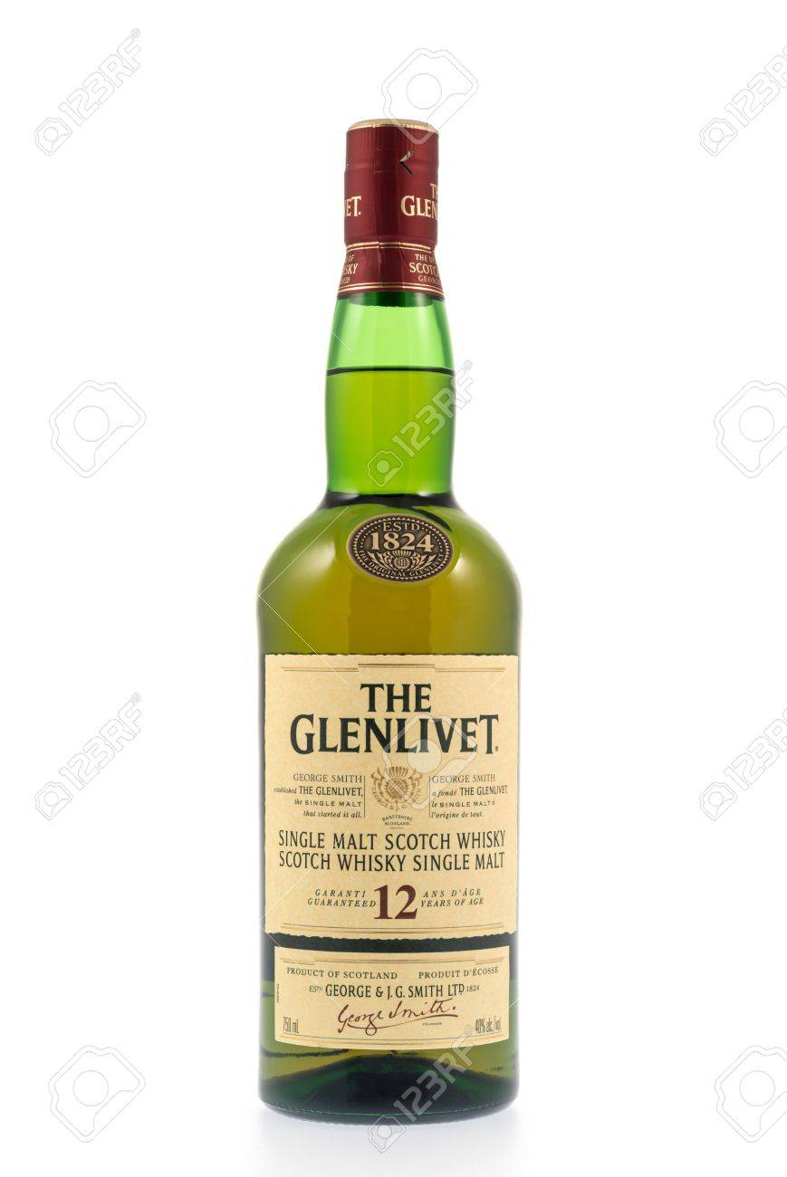 Kitchener, Canada - December 31, 2012 A Bottle Of The Glenlivet ...