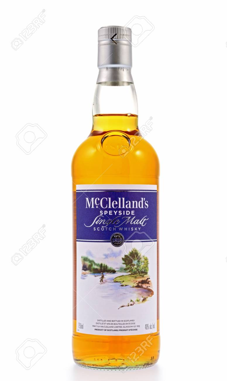 Kitchener, Canada - December 31, 2012 A Bottle Of McClelland Stock ...