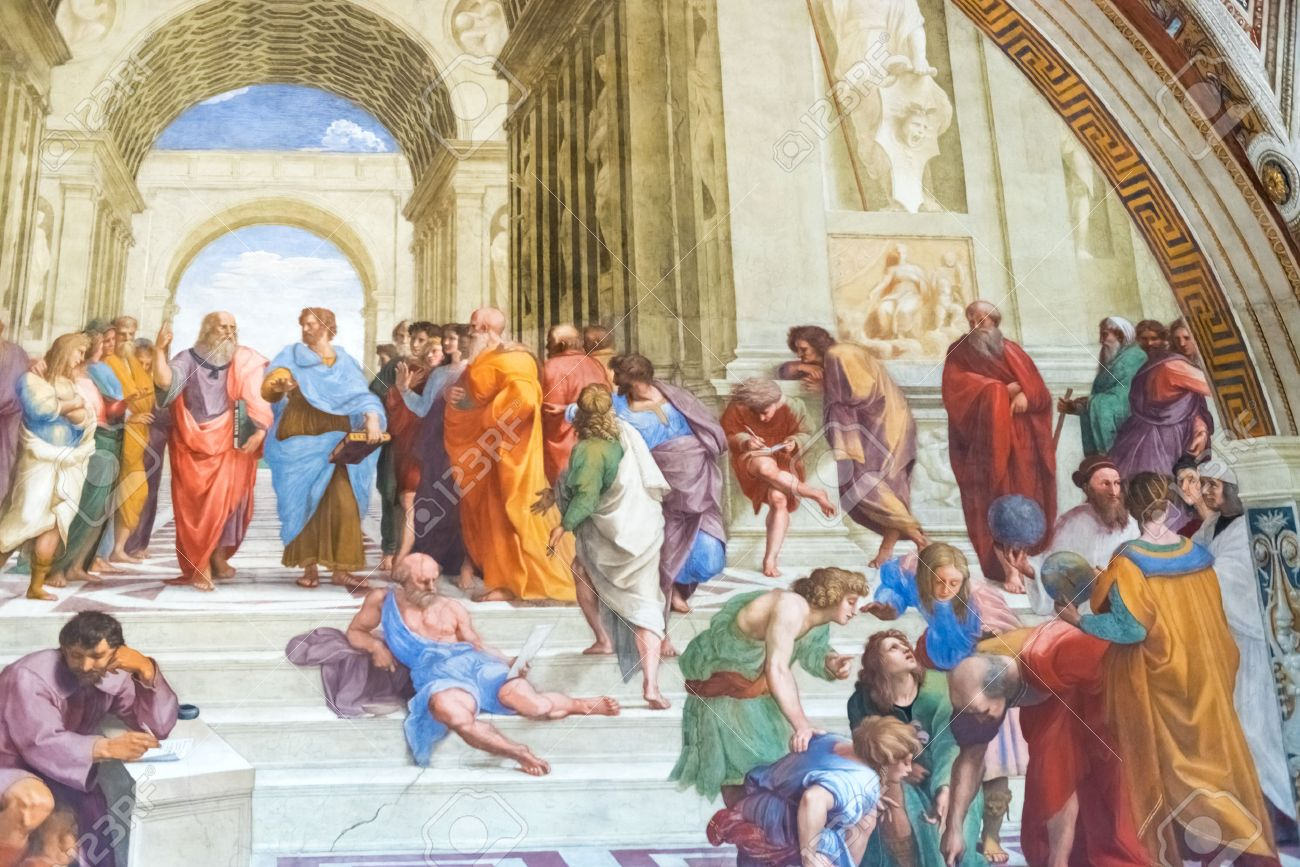 The School Of Athens Is One Most Famous Frescoes By