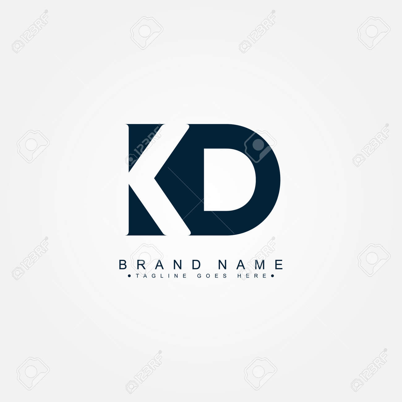 Initial Letter KD Logo - Minimal Business Logo - 169012499