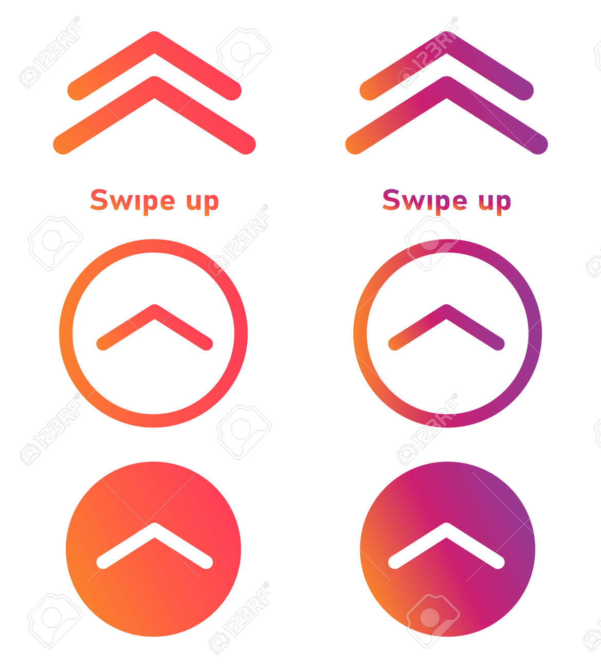 Swipe up vector button, template social media design. - 160537274
