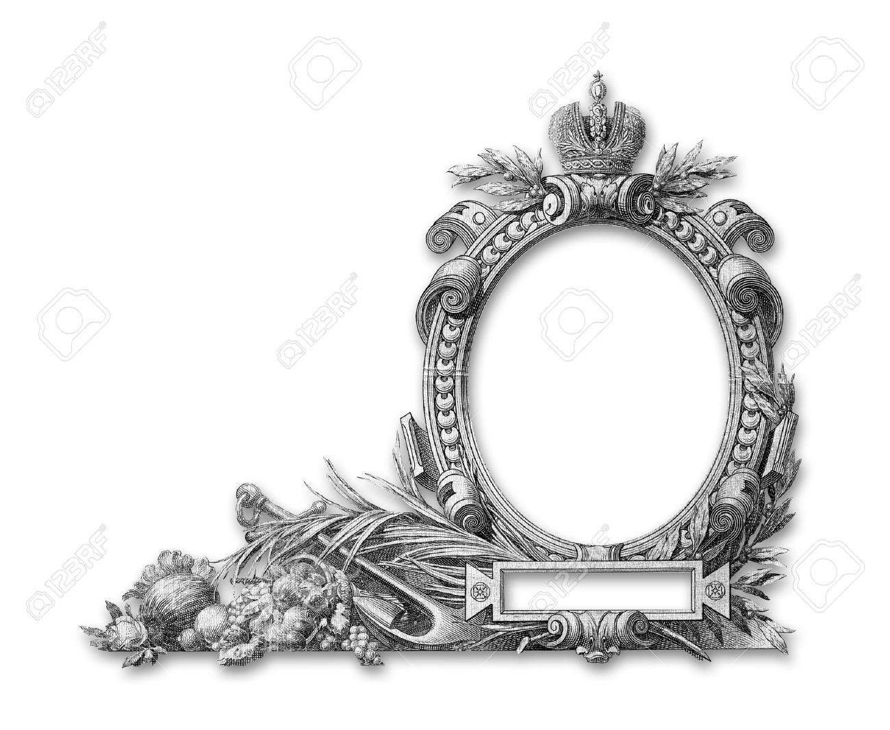 Old Victorian Frame On A White Background Stock Photo, Picture And ...