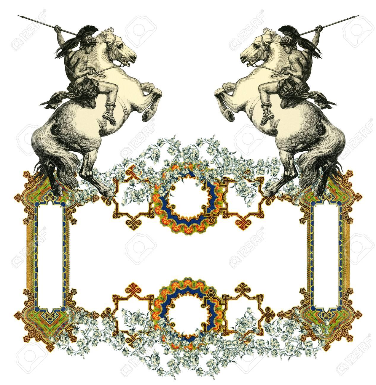 Luxuriöse Viktorianischen Frame Lizenzfreie Fotos, Bilder Und Stock ...