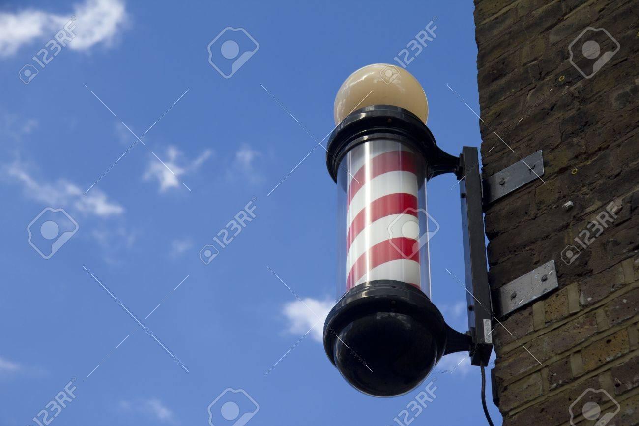 Barbers pole and sky Stock Photo - 7646625