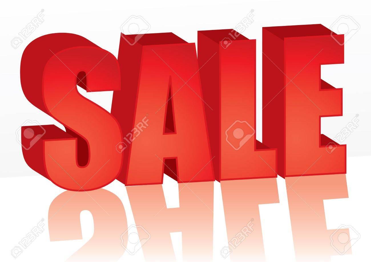Big red Sale word, illustration - 6544792