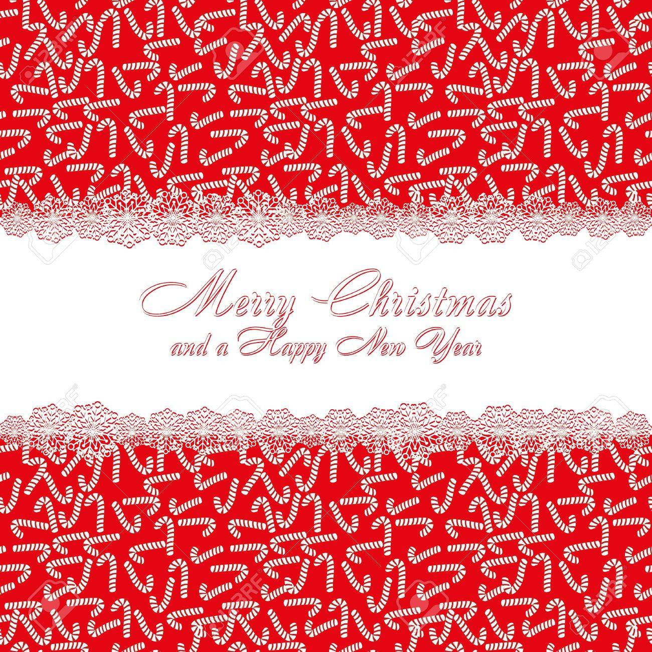 Christmas Pattern With Candy Cane, Background With Sweets And With ...