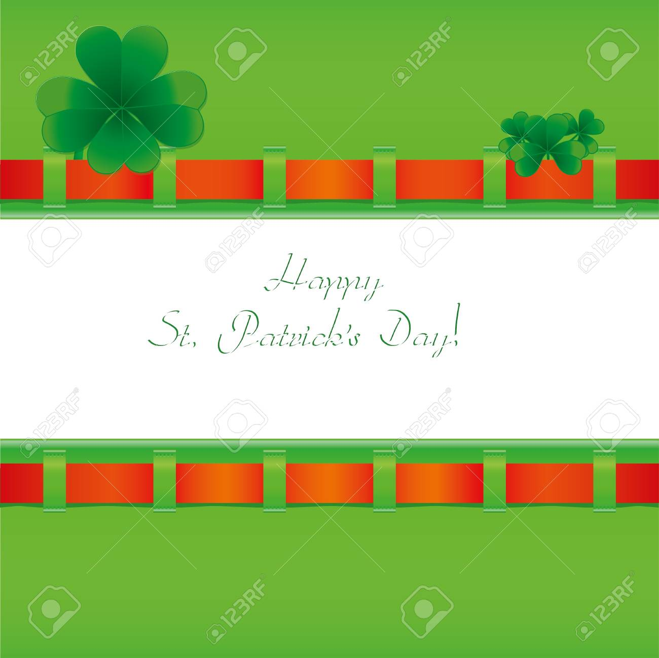 St. Patrick`s day invitation, illustration Stock Vector - 8790588