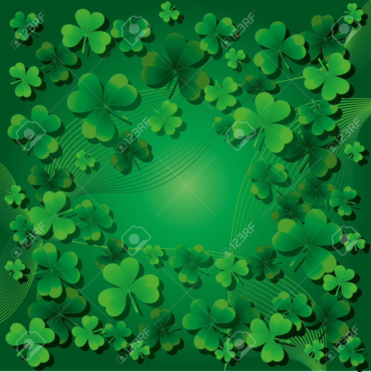 Background with clovers for St.Patrick`s day, Find one Happy Four-leafed clover/ Stock Vector - 9068317