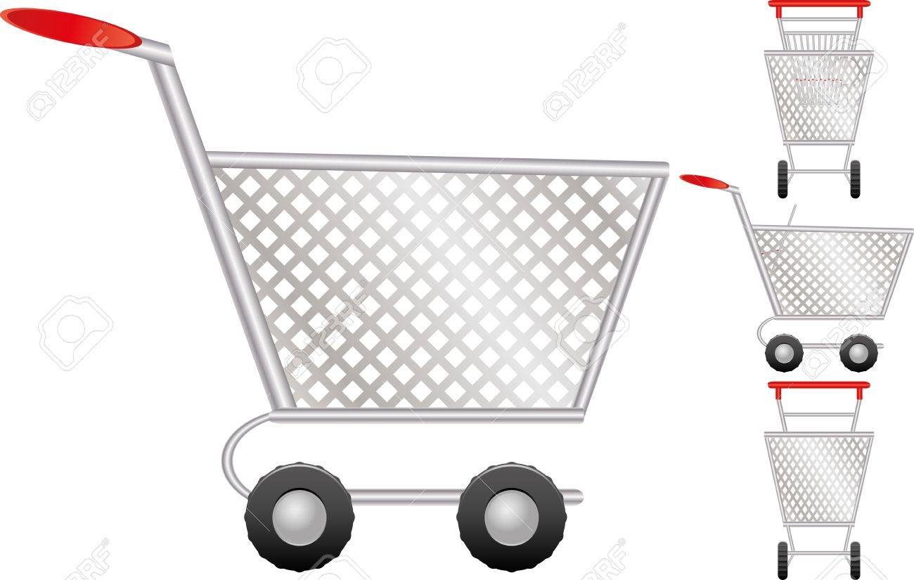 Set of shopping cart for online shop, icon for e-commerce, vector illustration Stock Vector - 9249702