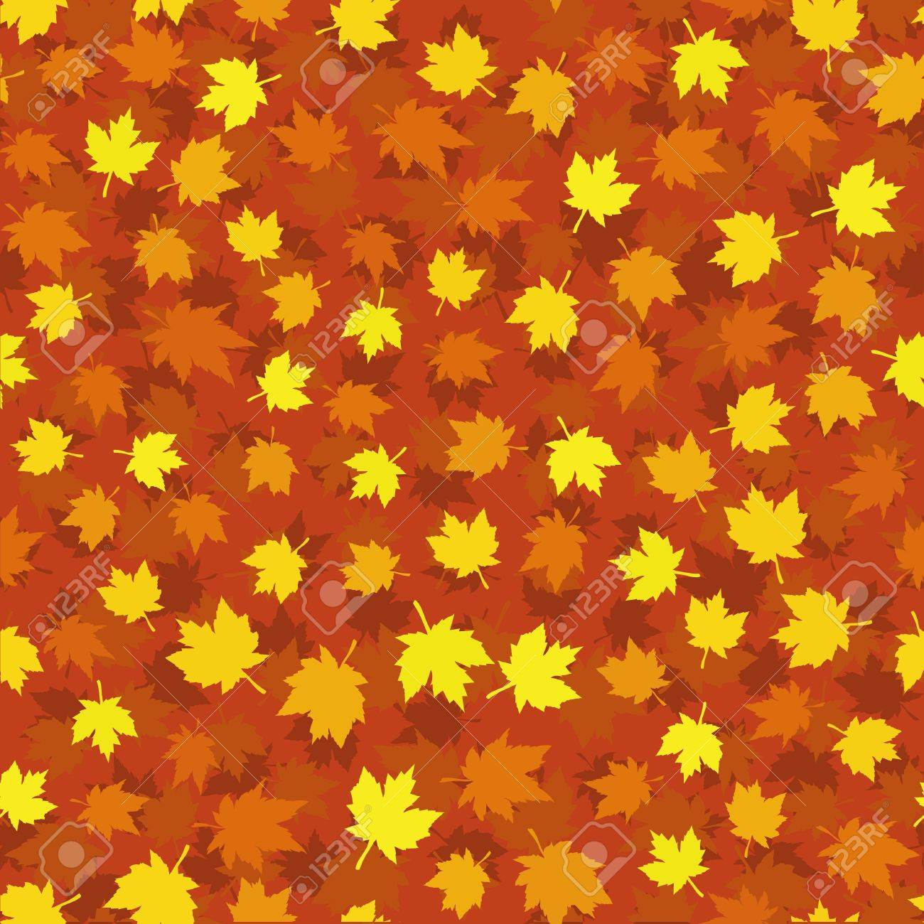 Autumn seamless background with maple leaves Stock Vector - 10059513