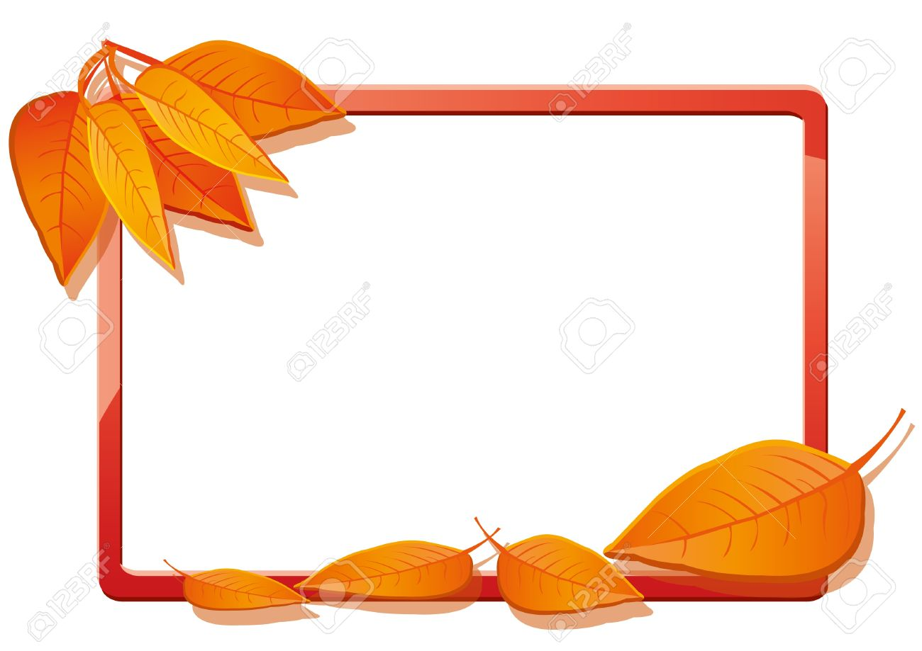 Autumn frame with orange leaves Stock Vector - 10493097