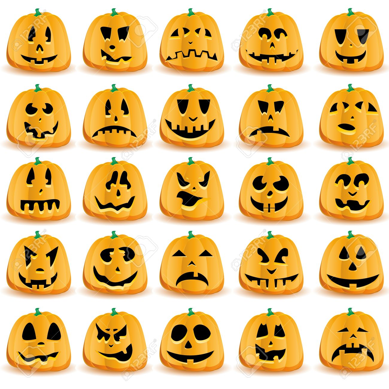 halloween pumpkins with mouths eyes and noses for jack o lantern