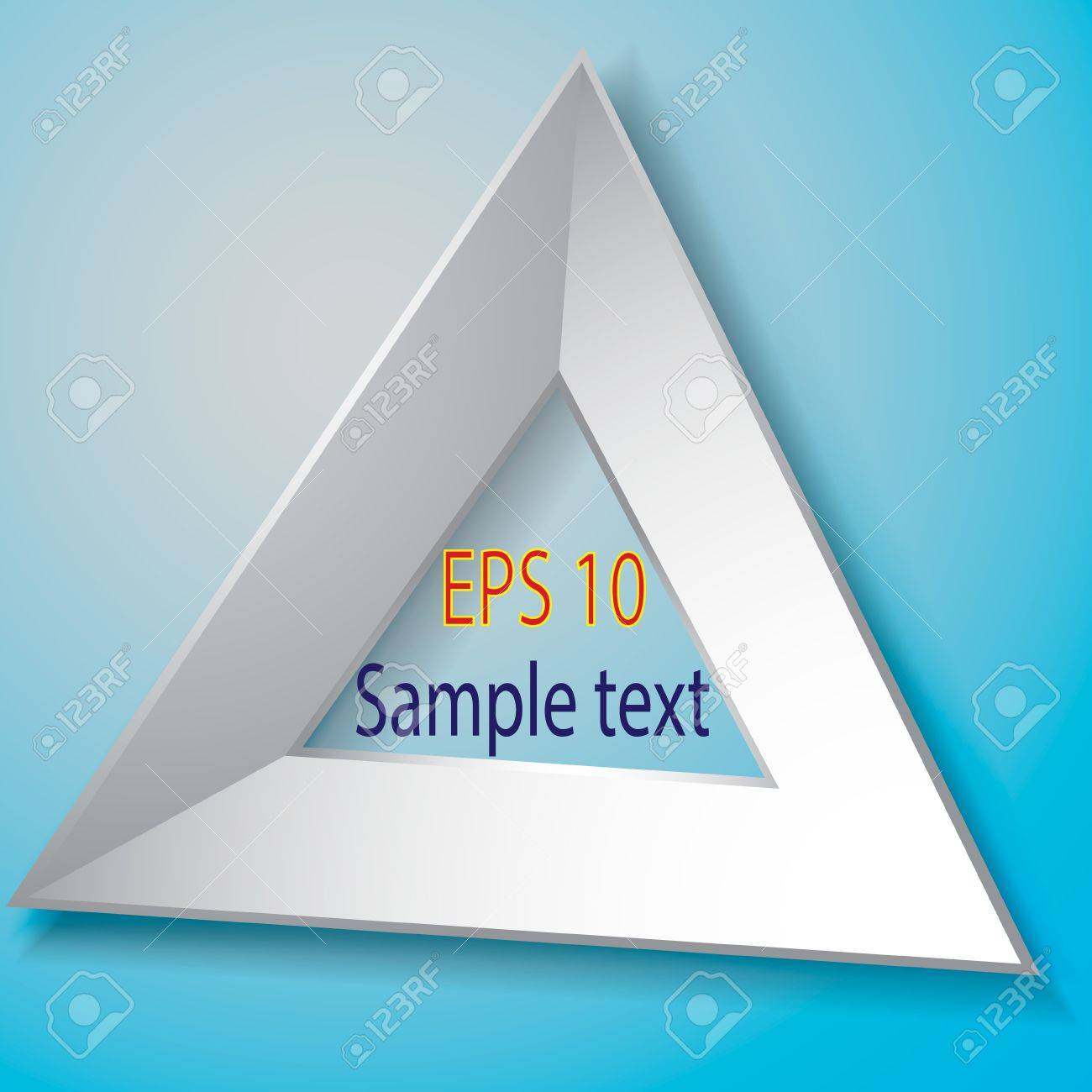 vector white triangle photo frame vector