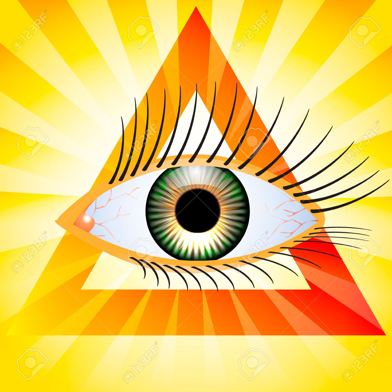 All seeing eye Stock Vector - 17010740