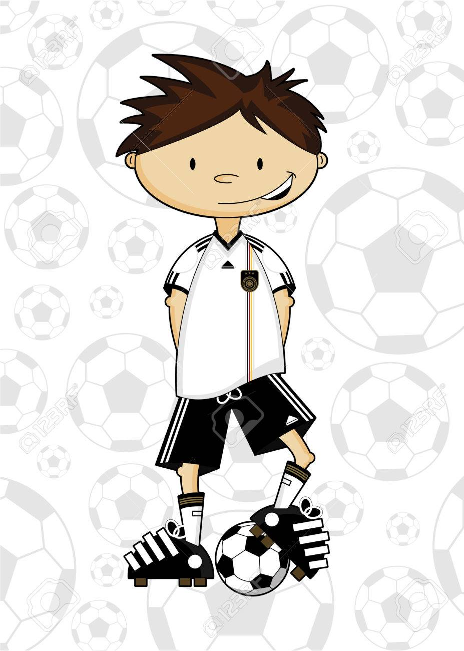cartoon soccer football player royalty free cliparts vectors and